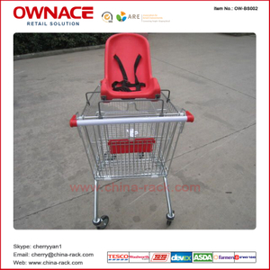 OW-BS002 Plastic Baby Seat para Shopping Trolley/Supermarket Shopping Cart Accessories