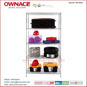 Estantería de OW-WD02 Five 5 Layers Chrome Display Wire