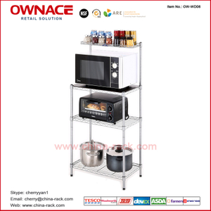 Estante de la cocina del soporte de la cocina de OW-WD06 Metal Rack, NSF Approved Kitchen Rack, estante de Customized de especia de la cocina